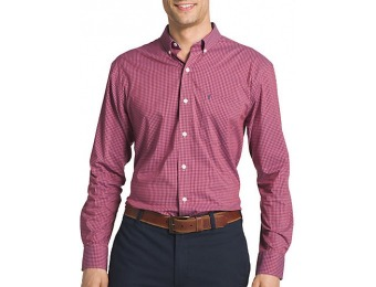 60% off IZOD Mens Long Sleeve Advantage Gingham Shirt