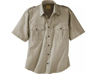 88% off Cabela's Men's Polyester/Cotton Safari Short-Sleeve Shirt