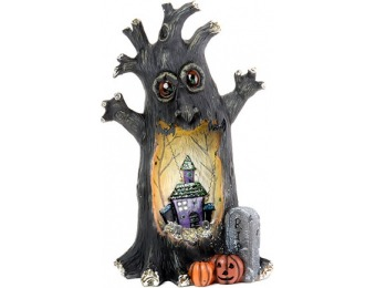 75% off Resin Light Up Spooky Halloween Tree