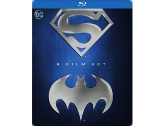 33% off Batman and Superman: 9-Film Set (Blu-ray)