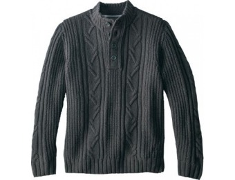 84% off Cabela's Men's Super-Soft Henley Pullover Sweater