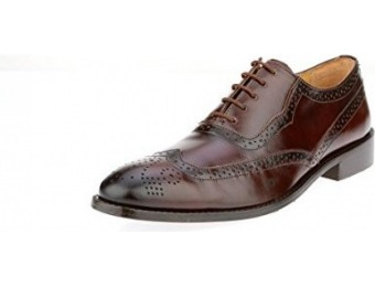$76 off Liberty Men's Handmade Leather Wing-Tip Oxford Shoes