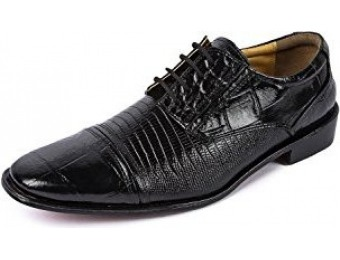 66% off Liberty Men's Exotic Crocodile Print Leather Dress Shoes