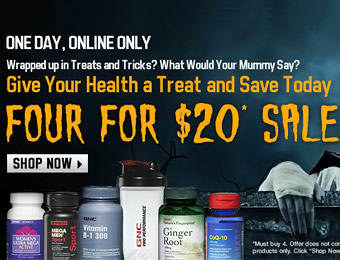 GNC 4 for $20 Sale - Over 325 Items to choose from