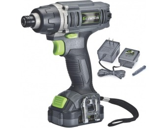 38% off Genesis 12V Lithium-Ion Cordless Torque Impact Driver