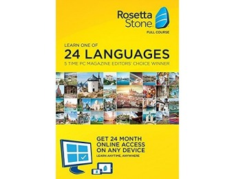 $100 off Rosetta Stone Lifetime Download with 24 Month Online