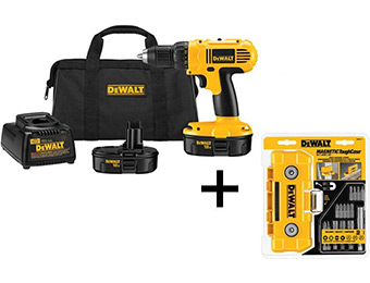 "$106 off DeWalt 18V Cordless 1/2"" Compact Drill/Driver Kit"