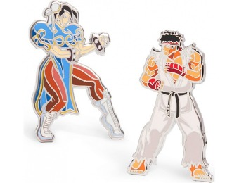 73% off Street Fighter Enamel Pin Diorama