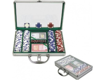 69% off Trademark 200 Holdem Poker Chip Set w/ Aluminum Case