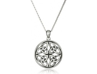88% off Sterling Silver Oxidized Celtic Knot Pendant Necklace