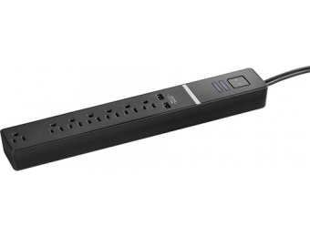 50% off Rocketfish 7-Outlet/2-USB Surge Protector Strip