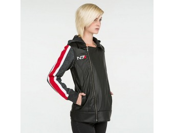 55% off Mass Effect N7 Armour Stripe Faux-Leather Ladies' Jacket