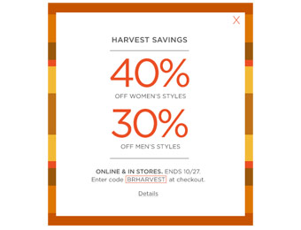 Save 40% off Women's Styles + 30% off Men's Styles at Banana Republic