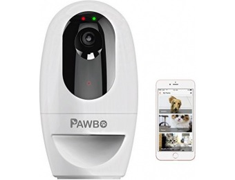 $89 off Pawbo Life Wi-Fi Pet Camera, Treat Dispenser, & Laser Game