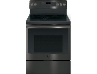 $350 off GE Smooth Surface 5-Element Convection Electric Range