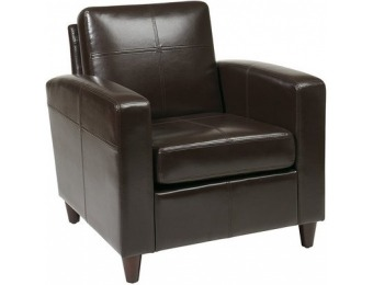 58% off Office Star Venus Casual Espresso Faux Leather Club Chair