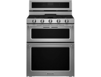 $650 off KitchenAid Freestanding Double Oven Convection Range