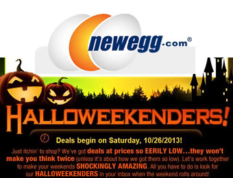 Newegg 2-Day Halloweekenders Sale - $100s off Hot Items