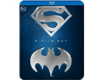 53% off Batman/Superman 9-Film Anthology (Blu-ray)