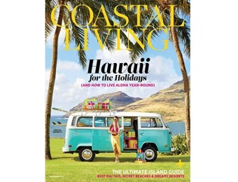 92% off Coastal Living Magazine - 1 year auto-renewal