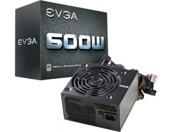 50% off EVGA 80 PLUS 600W ATX 12V/EPS 12V Power Supply