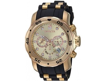 $830 off Invicta Men's Pro Diver 18k Ion-Plated Chronograph Watch