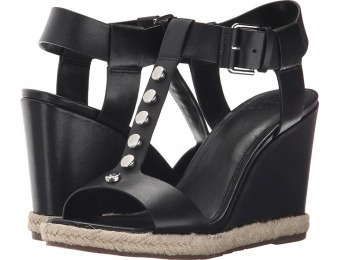 81% off Marc Fisher Kellie (Black Leather) Women's Wedge Shoes