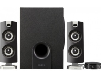 58% off Insignia 2.1 Bluetooth Speaker System (3-Piece)