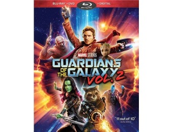 68% off Guardians of the Galaxy Vol. 2 (Blu-ray + DVD + Digital)