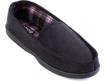 81% off IZOD Plaid Lined Micro Fleece Suede Moccasins