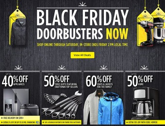 Sears Black Friday Doorbusters