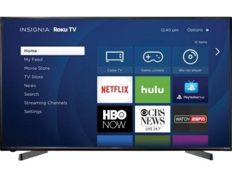 "$120 off Insignia 49"" LED 1080p Smart HDTV Roku TV"