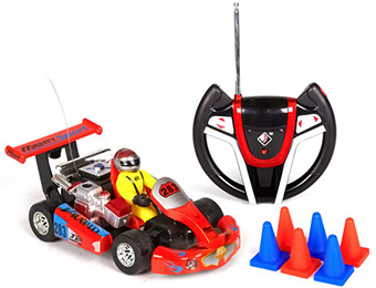63% off Kart Crazy Racing 1:23 Scale Electric RC Go Kart