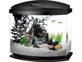 50% off Aqueon 5 Gallon MiniBow LED Desktop Fish Aquarium Kit