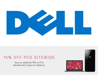 Extra 15% off PCs Sitewide at Dell for Cyber Monday