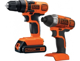 30% off BLACK & DECKER 2-Tool 20V Cordless Combo Kit BD2KITCDDI