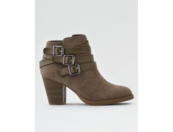 40% off AE Triple Buckle Heeled Bootie