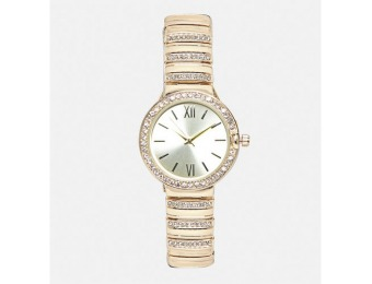 88% off Avenue Golden Sparkle Metal Link Watch