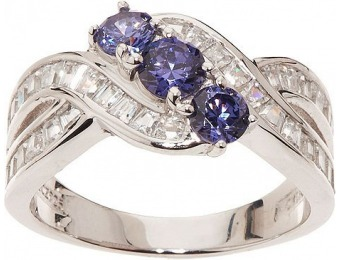 52% off Epiphany Diamonique & Simulated Tanzanite Ring
