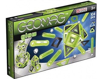 61% off Geomag 104 Pc Glow in the Dark Magnetic Construction Set