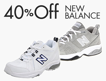 40% off New Balance Cross Training Shoes for Women and Men