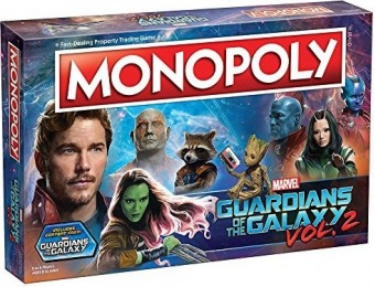 69% off USAopoly Guardians of the Galaxy Volume 2 Monopoly Game