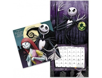 33% off 2018 Nightmare Before Christmas Wall Calendar