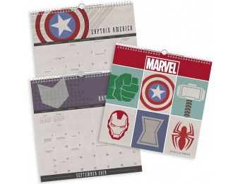 33% off 2018 Marvel Spiral Wall Calendar