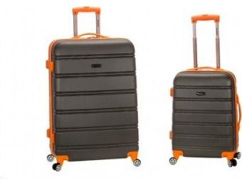 $72 off Rockland 2pc Expandable ABS Spinner Luggage Set