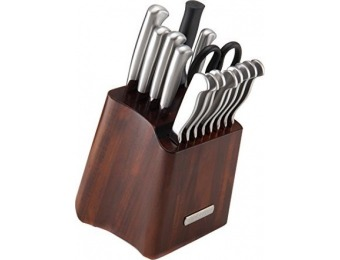 $61 off Sabatier 16-Pc Stainless Steel Hallow Handle Knife Set