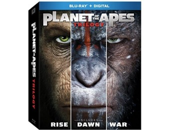 64% off Planet of the Apes Trilogy (Blu-ray)