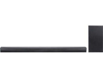 $120 off LG 2.1-Ch Hi-Res Soundbar System w/ Wireless Subwoofer