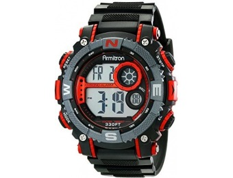63% off Armitron Sport Men's 40/8284RED Chronograph Digital Watch