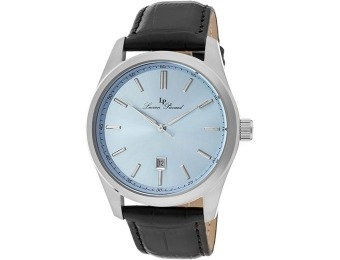 $455 off Lucien Piccard Men's Eiger Light Blue Dial Leather Watch